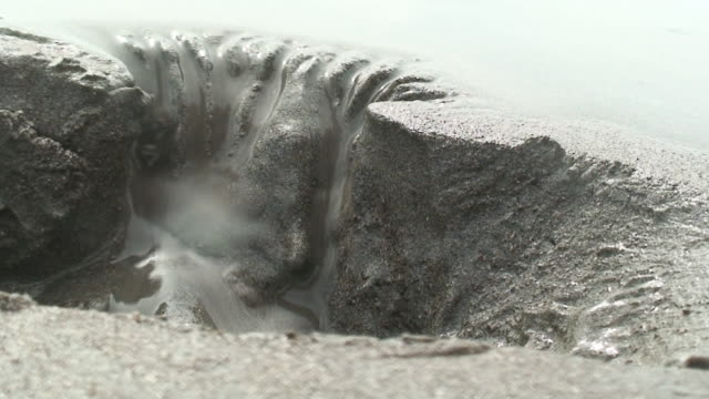 Erosion in the beach