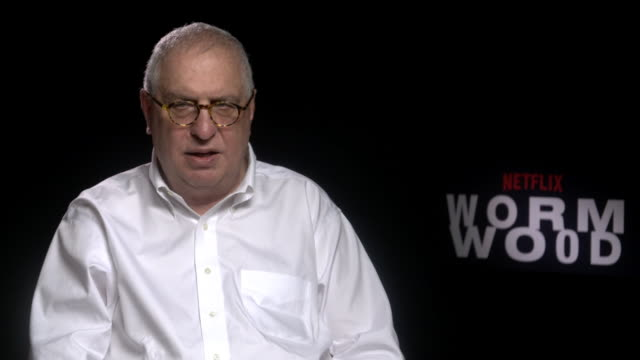 errol morris on on how making the film was much like working as a private detective at 'wormwood' interviews - 74th venice international film... - 第74回ベネチア国際映画祭点の映像素材/bロール