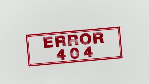 vídeos y material grabado en eventos de stock de error 404 - mensaje de error