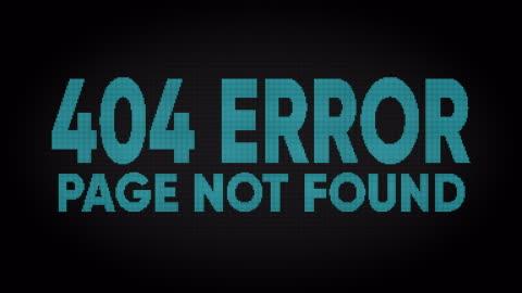 vídeos y material grabado en eventos de stock de pantalla de led de error 404 - mensaje de error