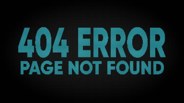 404 error led screen - negative emotion stock videos & royalty-free footage