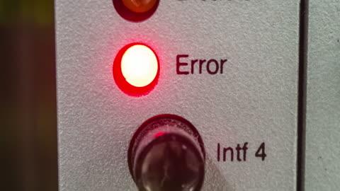 vídeos y material grabado en eventos de stock de led de estado de error - mensaje de error