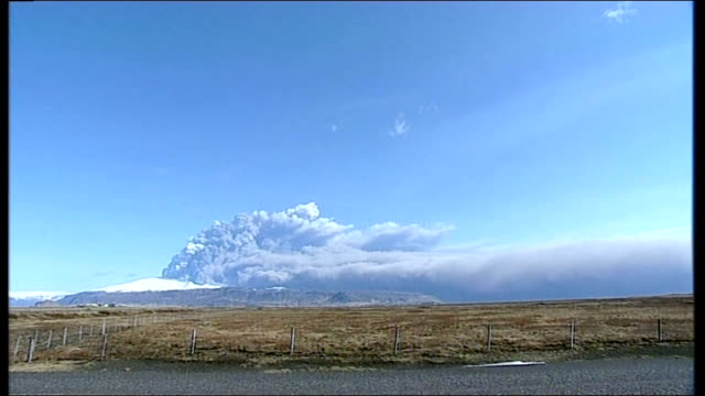 erupting eyjafjallajokull volcano pourring out clouds of ash and smoke - ash stock videos & royalty-free footage