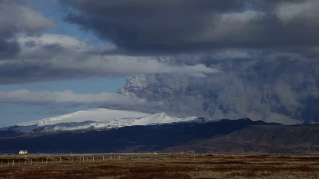 eruption of eyjafjallajökull - timelapse - 2010 stock videos and b-roll footage