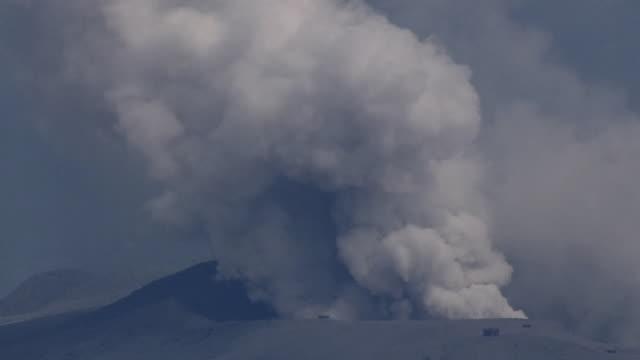 AERIAL, Eruption Of Mt Aso, Kumamoto, Japan