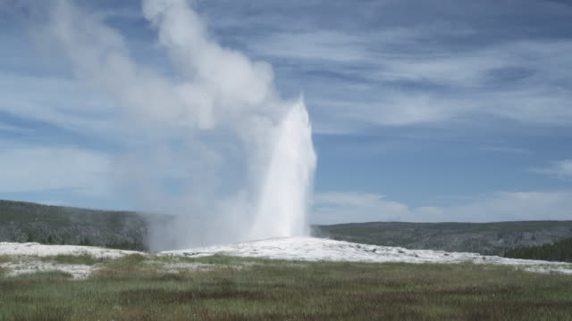 eruption of old faithful geyser, yellowstone np, united states - geyser stock videos and b-roll footage