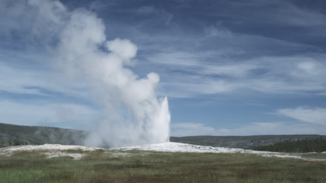 eruption of old faithful geyser, yellowstone np, united states - old faithful stock videos & royalty-free footage