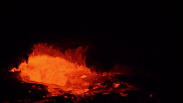 eruption of volcano erta ale, ethiopia - horn of africa stock videos & royalty-free footage
