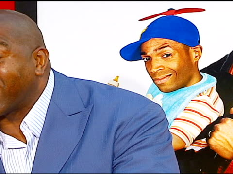 ervin 'magic' johnson at the 'little man' premiere at the mann national theatre in westwood california on july 6 2006 - mann national theater stock videos and b-roll footage