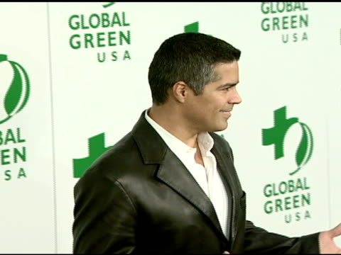 vídeos de stock, filmes e b-roll de esai morales at the global green usa's 5th annual preoscar party at null in hollywood california on february 20 2008 - global green usa