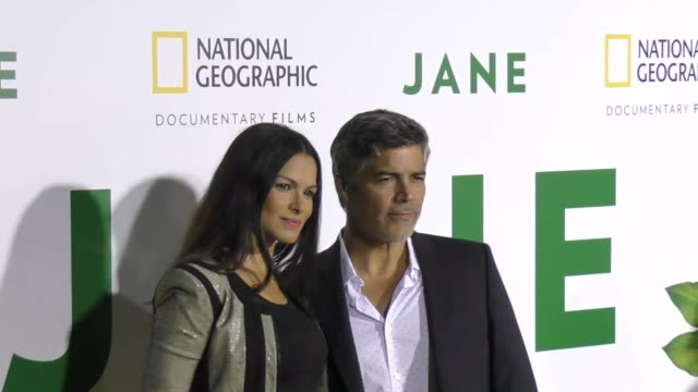 esai morales & elvimar silva at the premiere of national geographic documentary films' 'jane' at the hollywood bowl on october 09, 2017 in los... - ドキュメンタリー映画点の映像素材/bロール