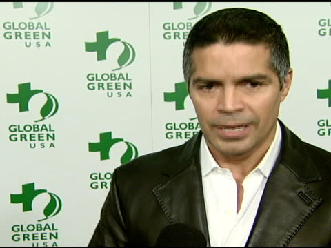 Esai Morales on attending tonight's event at the Global Green USA's 5th Annual PreOscar Party at NULL in Hollywood California on February 20 2008