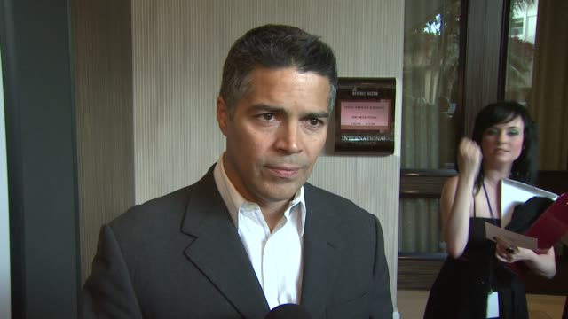 esai morales on the event the canadian seal hunt how he got involved in animal advocacy honoring ellen degeneres and portia derossi at the 23rd... - ellen degeneres stock videos and b-roll footage