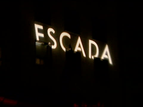 escada store exterior at the the grand opening of the beverly hills flagship boutique celebrated by escada hilary swank and vogue at escada in... - escada stock videos & royalty-free footage