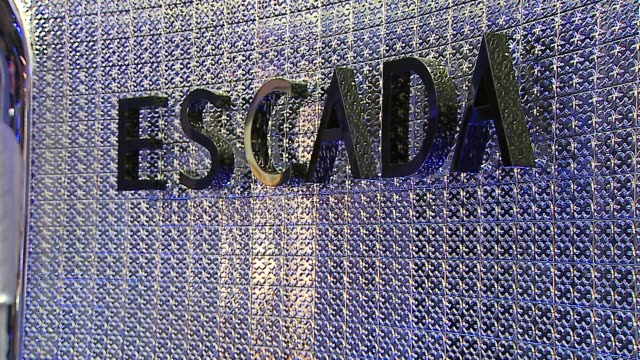 escada store interior at the the grand opening of the beverly hills flagship boutique celebrated by escada, hilary swank and vogue at escada in... - escada stock videos & royalty-free footage
