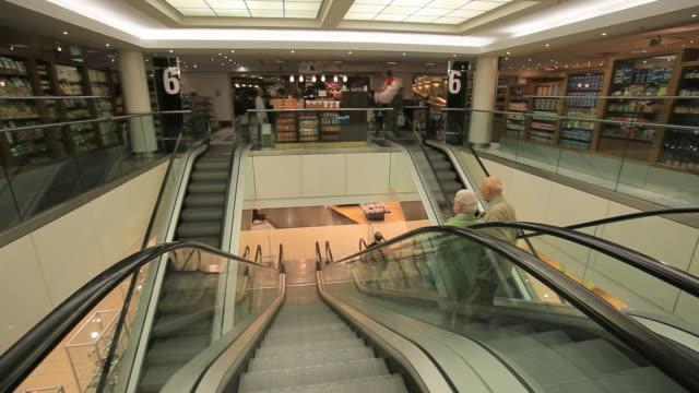Escalator at KaDeWe department store - without people