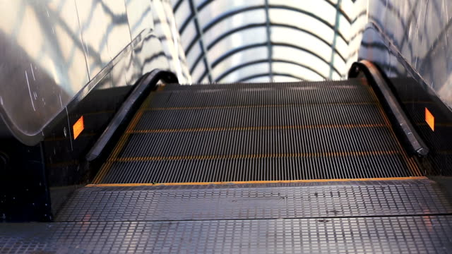 escalator, automated staircase - stair lift stock videos and b-roll footage