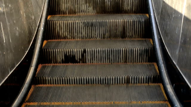 escalator close up - stair lift stock videos and b-roll footage