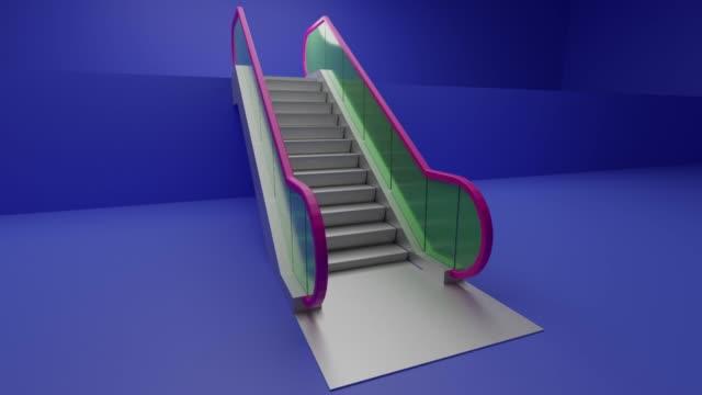 eskalator-konzept - maschinenbau stock-videos und b-roll-filmmaterial