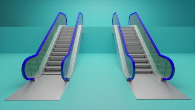 escalator concept - building storey stock videos and b-roll footage