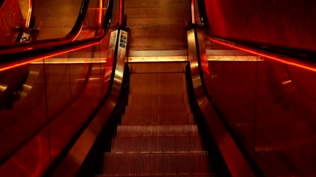 escalator going down - first person point of view - stair lift stock videos and b-roll footage