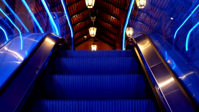 escalator going up - first person point of view - stair lift stock videos and b-roll footage