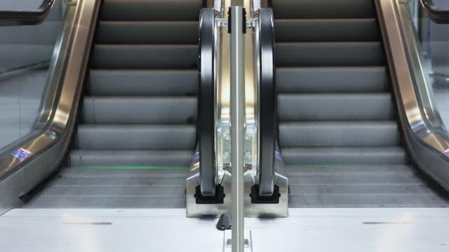 Escalator in modern architecture setting