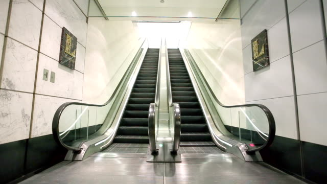 escalator in modern hall