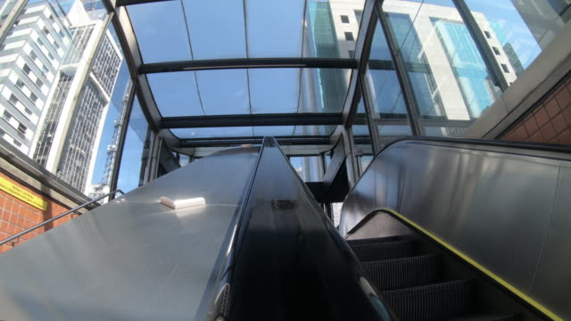 escalator in subway station - são paulo stock videos & royalty-free footage
