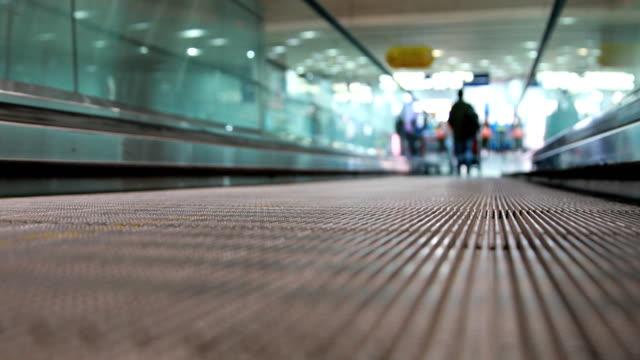 Escalator in the airport