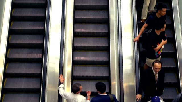 escalator in the mall - customer stock videos & royalty-free footage