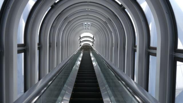 Escalator in tunnel