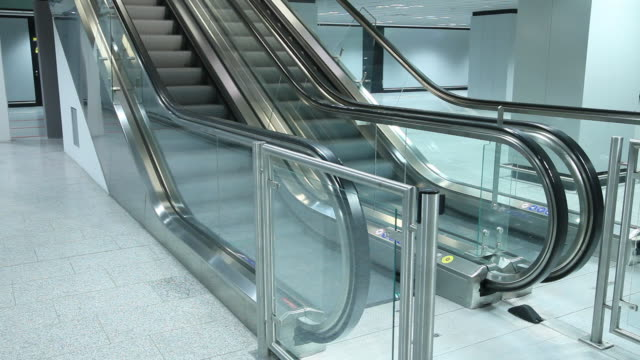 escalator moving up and down - escalator stock videos & royalty-free footage