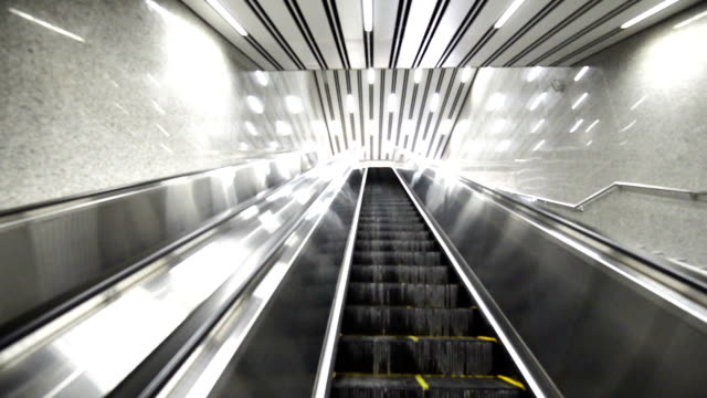 escalator - luggage trolley stock videos & royalty-free footage