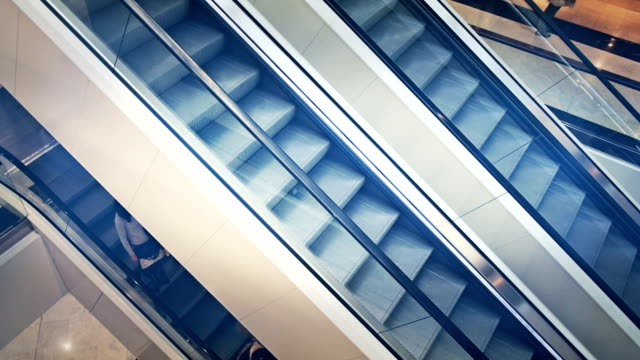 escalators - escalator stock videos & royalty-free footage