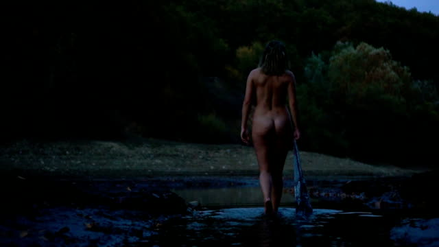 escape to nature - naked stock videos and b-roll footage
