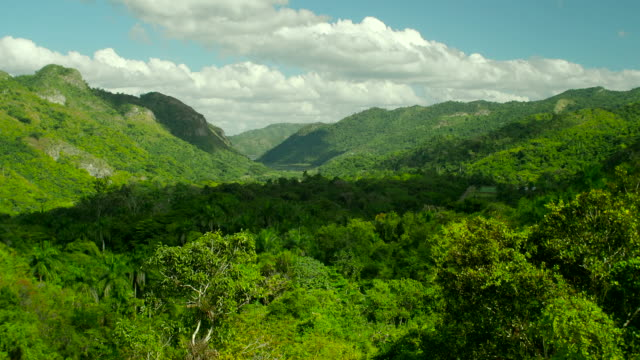 escrambray mountains scenics, el nicho waterfall viewpoint, cuba - sancti spiritus province stock videos and b-roll footage