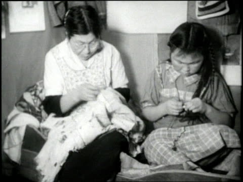 eskimo families perform daily tasks in alaska - inuit stock videos & royalty-free footage