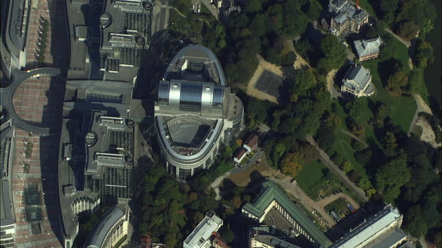 AERIAL Espace Leopold, complex of parliament buildings, Paul-Henri Spaak building / Brussels, Belgium