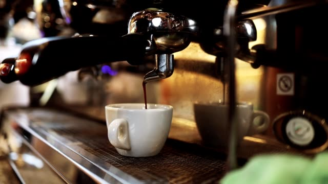 espresso coffee making - coffee drink stock videos & royalty-free footage