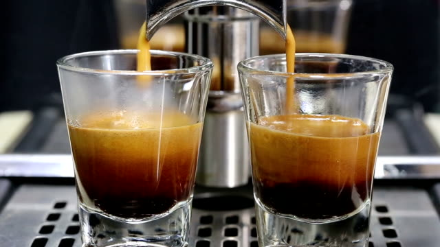 espresso coffee. - espresso stock videos & royalty-free footage