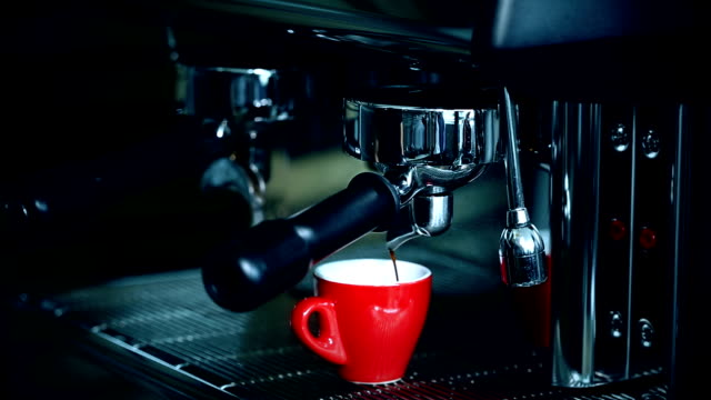espresso machine brewing a coffee - silver metal stock videos & royalty-free footage