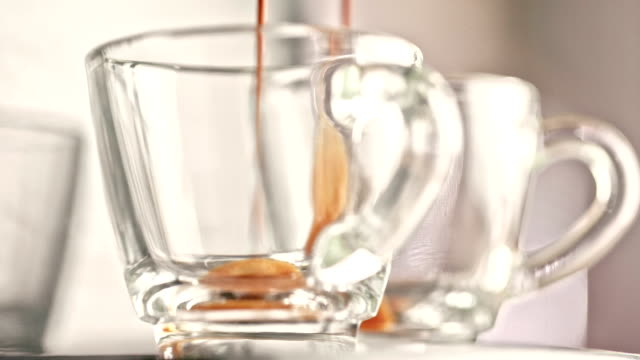 espresso making - cup stock videos & royalty-free footage