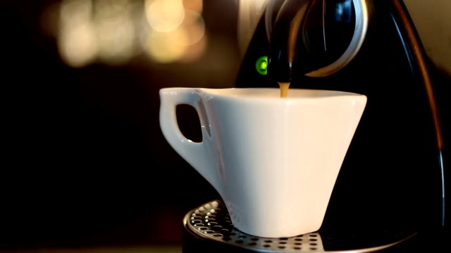 espresso poured in a glass - cup stock videos and b-roll footage