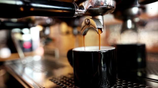 Espresso pouring