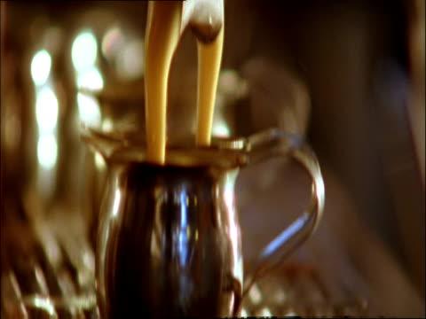 cu, tu, td, espresso preparation - pour spout stock videos & royalty-free footage