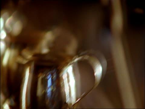 cu, espresso preparation - pour spout stock videos & royalty-free footage