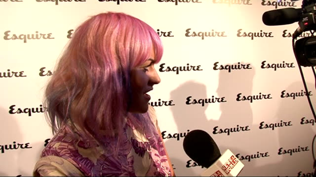 esquire magazine relaunch jaime winstone interview sot on new hair got it for a music video for damien lazarus on work just finished film and about... - esquire magazine stock videos & royalty-free footage
