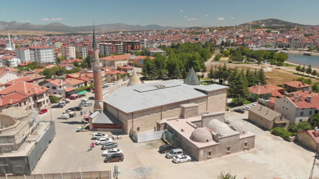 esrefoglu mosque in beysehir town, konya, turkey - konya stock videos and b-roll footage