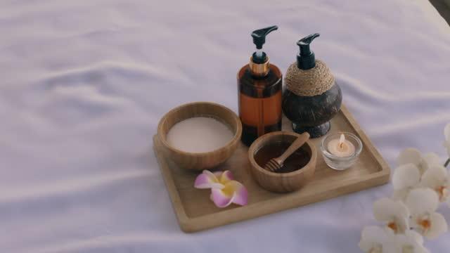 essential spa equipment. - masseur stock videos & royalty-free footage